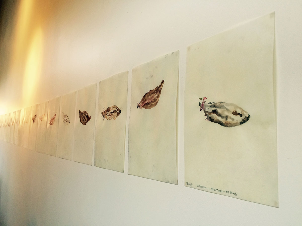 Rituals and Art | Nathalie Noe Adam - Something is sprouting in my mind